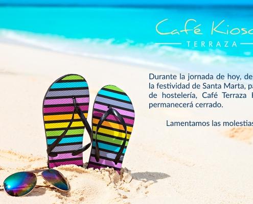 Cerramos por Santa Marta-Café Terraza Kiosco
